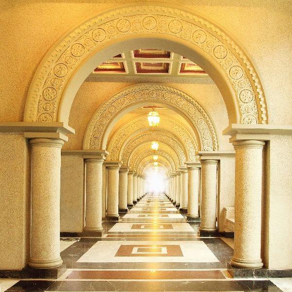 Фотообои в интерьере с колоннами фото