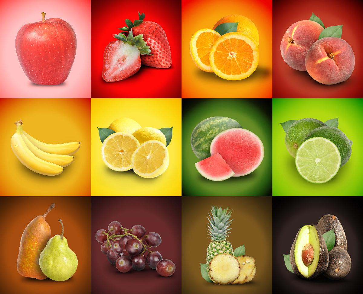 Открытка в виде фруктов